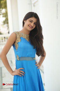Telugu Actress Akshita (Pallavi Naidu) Latest Stills in Blue Long Dress at Inkenti Nuvve Cheppu Movie Promotions  0066.jpg