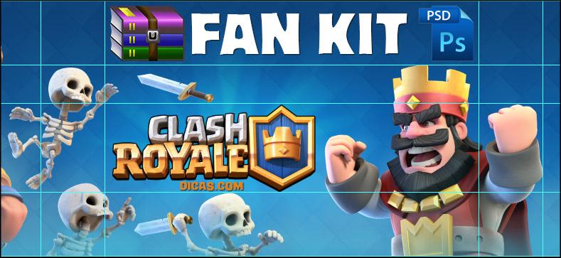 Download Fan Kit Clash Royale font psd images