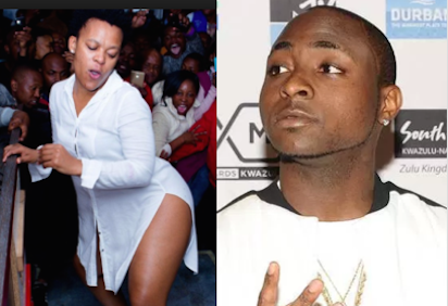Davido sets his sights on' South African pantless dancer Zodwa Wabantu