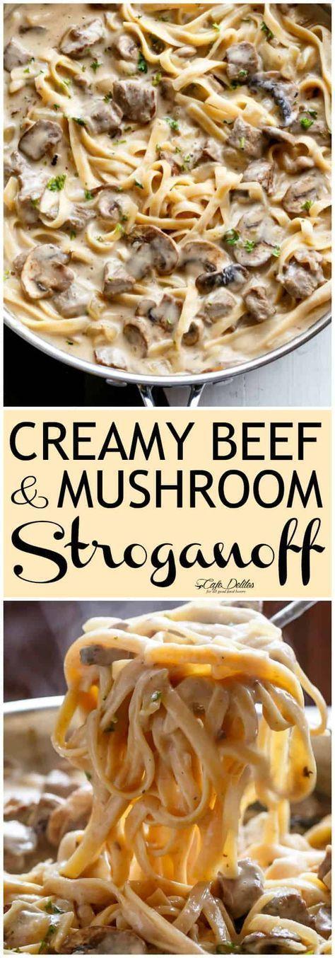 Creamy Beef and Mushroom Stroganoff