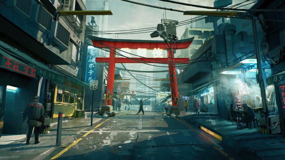 Cyberpunk 2077, Street, City, Concept Art, 4K, #3.2262