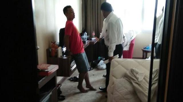 Tujuh orang digerebek saat pesta narkoba di Hotel Grand Central Jl Jenderal Sudirman, jelang siang tadi sekitar 11.00 WIB