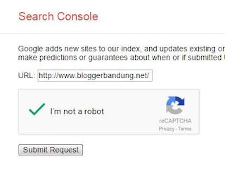 Daftarkan Blog setelah Cara Custom Domain Blogger