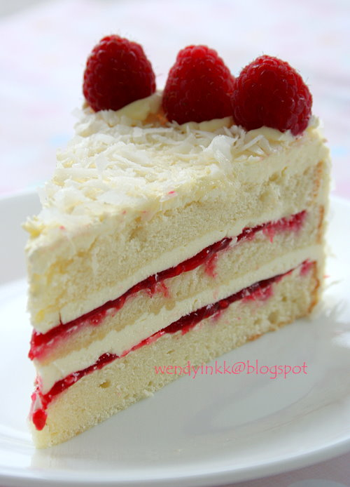 ... or more: Coconut Raspberry Lemon Cake - Rasps Whole Cakes # 1
