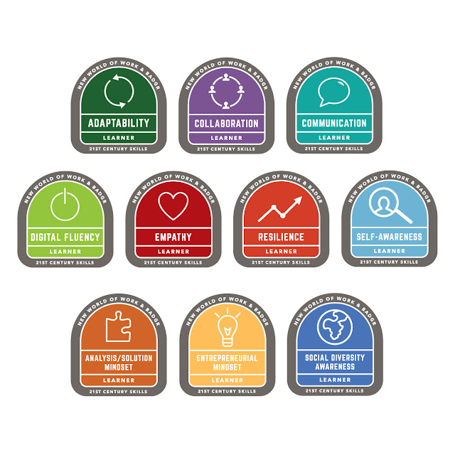 Image of New World of Work's 10 21st Century Skills Badges