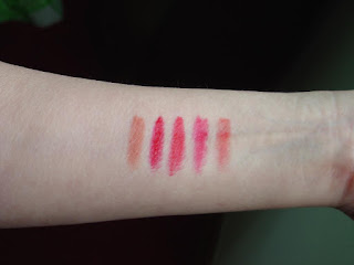 Laura Geller Iconic Baked Sculpting Lipsticks swatches.jpeg