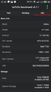 Flyme upgrade Meizu M1 Screenshot