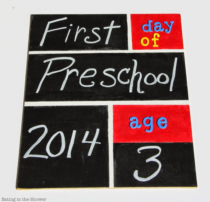 DIY First and Last Day of School Sign