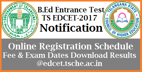 Online Application Form, Important Dates, Hall Tickets, Key Results, Results Download Osmania University issued B.Ed Entrance Notification on behalf of Telangana State Council for Higher Education. Register Online for TS EDCET-2017 at official website www.edcet.tsche.ac.in | Schedule for 2 years B.Ed course Entrance Test in Telangana released. Important dates for Online Registration, Fee payments Download Hall Tickets Results | TSCHE inviting Online Application for EDCET-2017 Notification for two years batchlor Degree in Education | Download Notification for two years B.Ed Entrance in Telangana by Osmania University OU ts-edcet-2017-notification-apply-online-form-hall-tickets-results-tsche-download