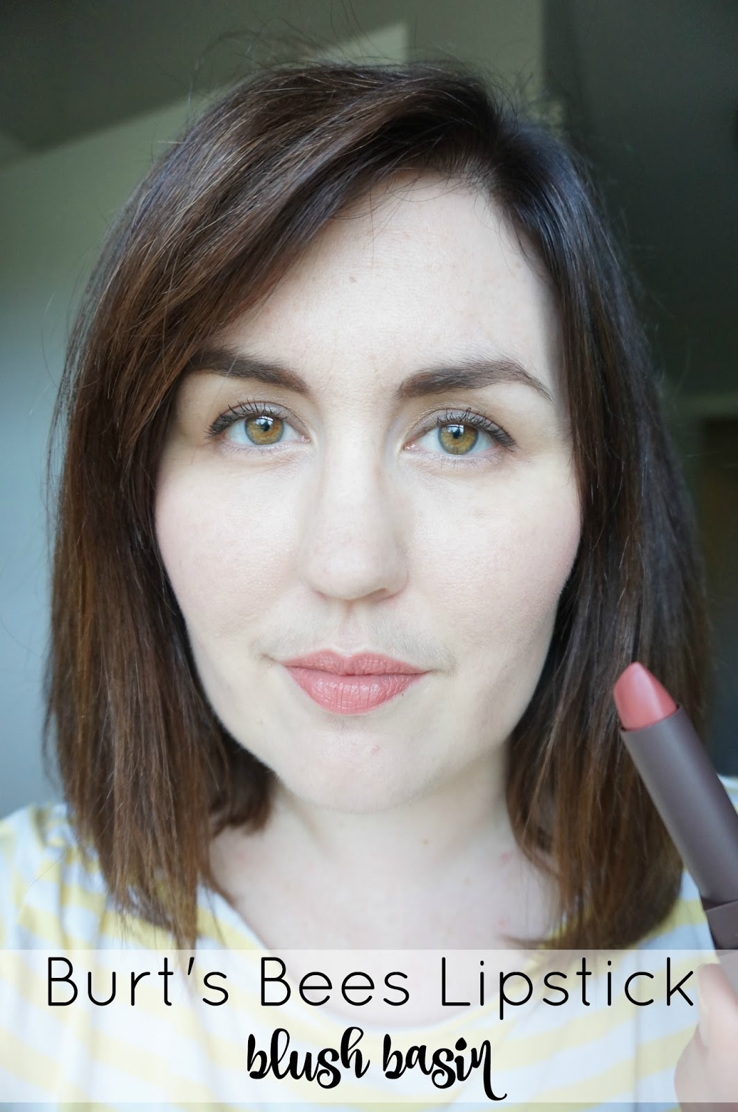 Makeup Monday: Burts Bees Lipstick by North Carolina style blogger Rebecca Lately