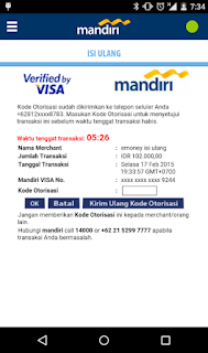 Cara top up via Aplikasi mandiri e-money isi ulang 5