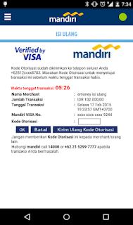 Cara top up via Aplikasi mandiri e-money isi ulang 5