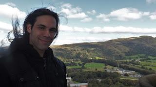 Skót hegyes táj Stirling-ben