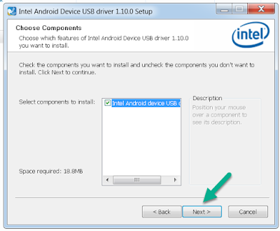 Install Intel Android Driver