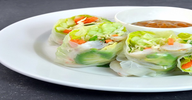 Fresh Spring Rolls With Shrimp And Peanut Dipping Sauce Recipe