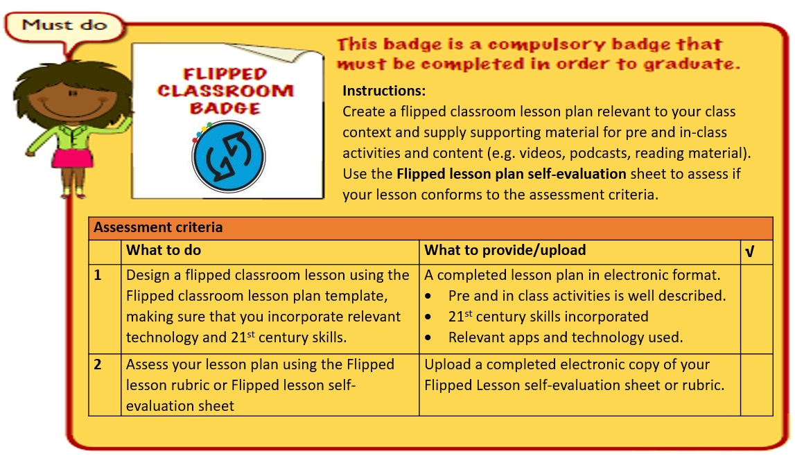 Get Ahead Project ICTRED Flipped Lesson Badge Support - 21st century lesson plan template
