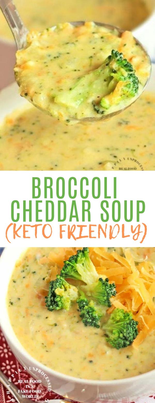 BROCCOLI CHEDDAR SOUP (KETO FRIENDLY) #soup #keto