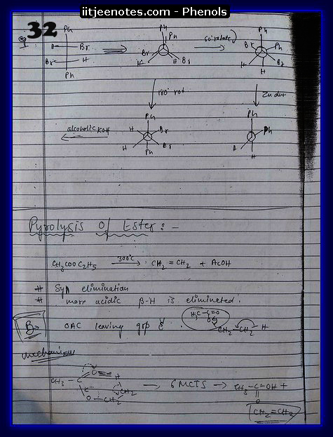 Phenol Notes IITJEE 2