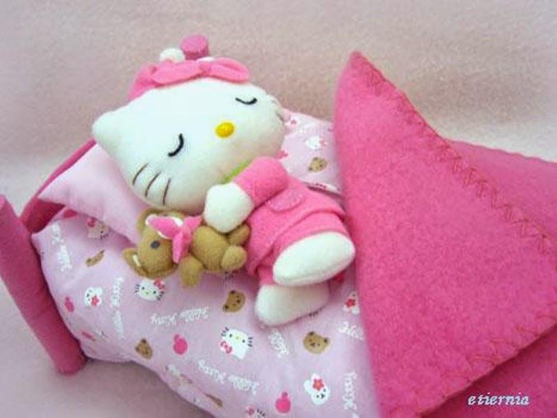 Gambar lucu hello kitty lagi tidur