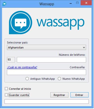 Wassap pantalla principal