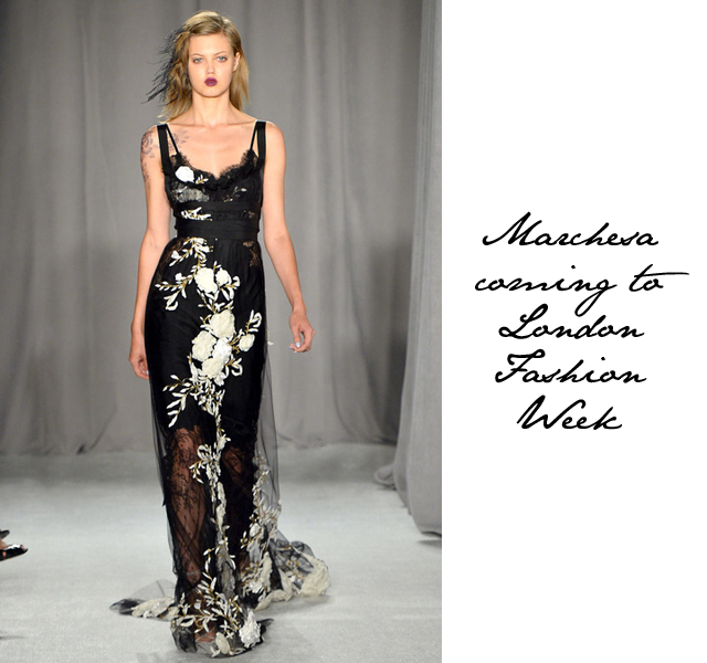 a722b44a8b8 More exciting news for London Fashion Week. Looks like we've caught another  designer duo for the season. It has just been announced that Marchesa will  show ...