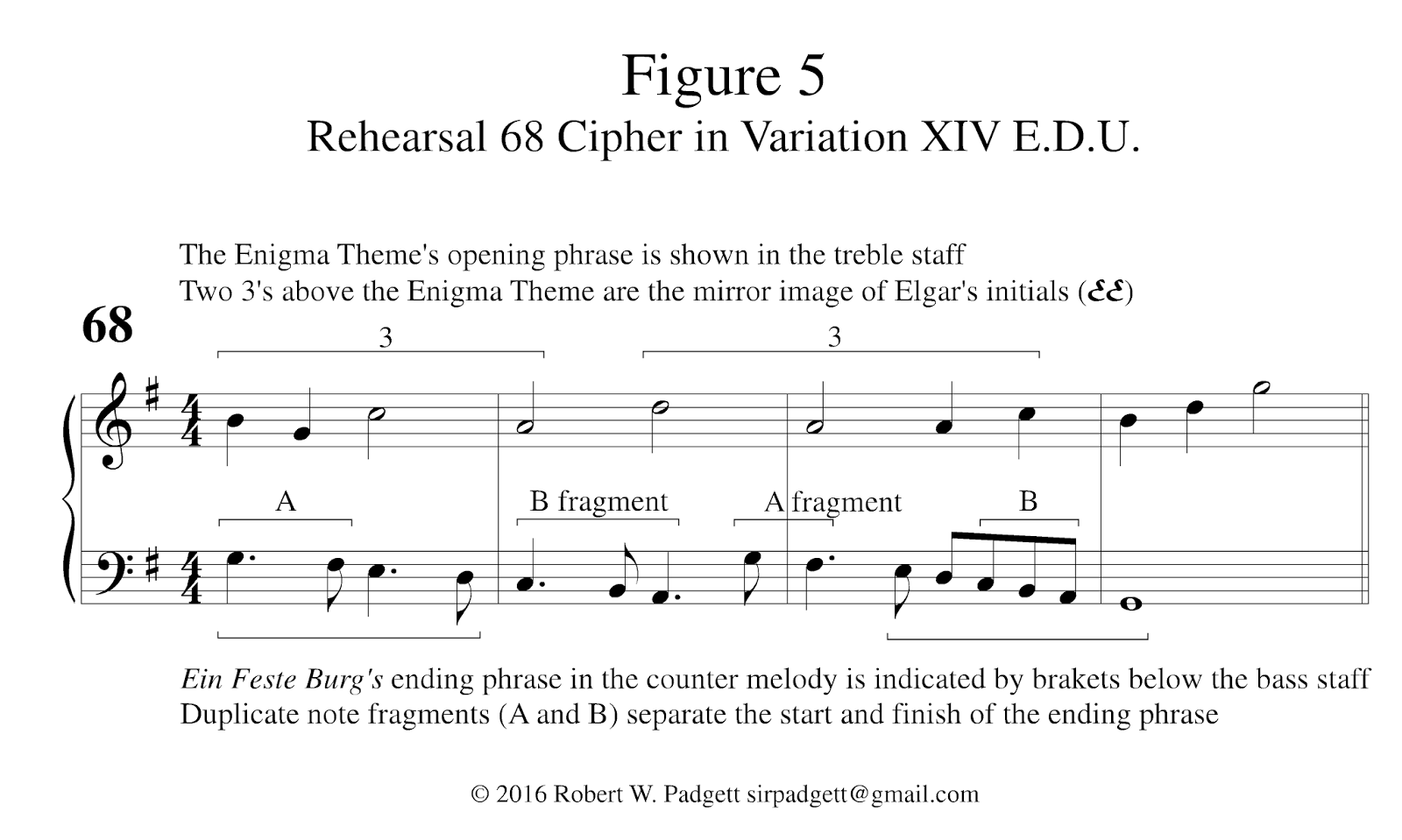 Gmail theme music - Certain Features Of The Enigma Theme Also Hint At A Retrograde Counterpoint First The Opening Six Notes Of The Cello Line Are The Last Six Notes Of Ein