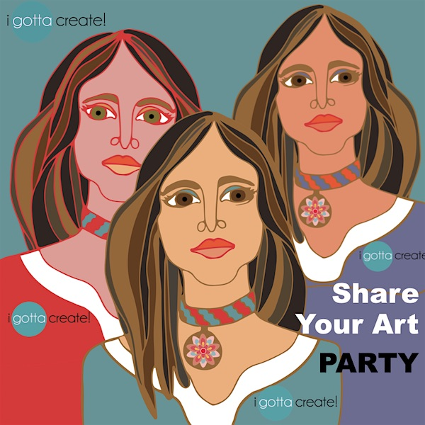 Share Your Art Party at I Gotta Create & Christina Mann Designs!