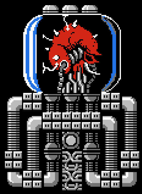 mother brain metroid original NES sprite