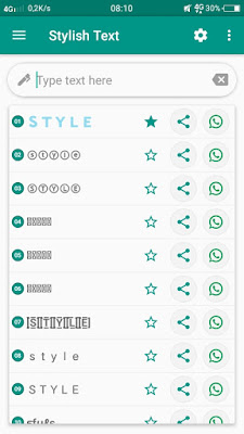 Cara merubah bentuk huruf di whatsapp jadi lebih keren dan unik