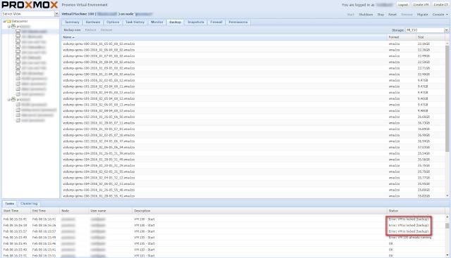 Proxmox task error: VM is locked (backup)