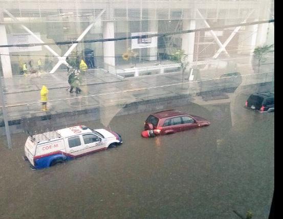 plataforma financiera inundada