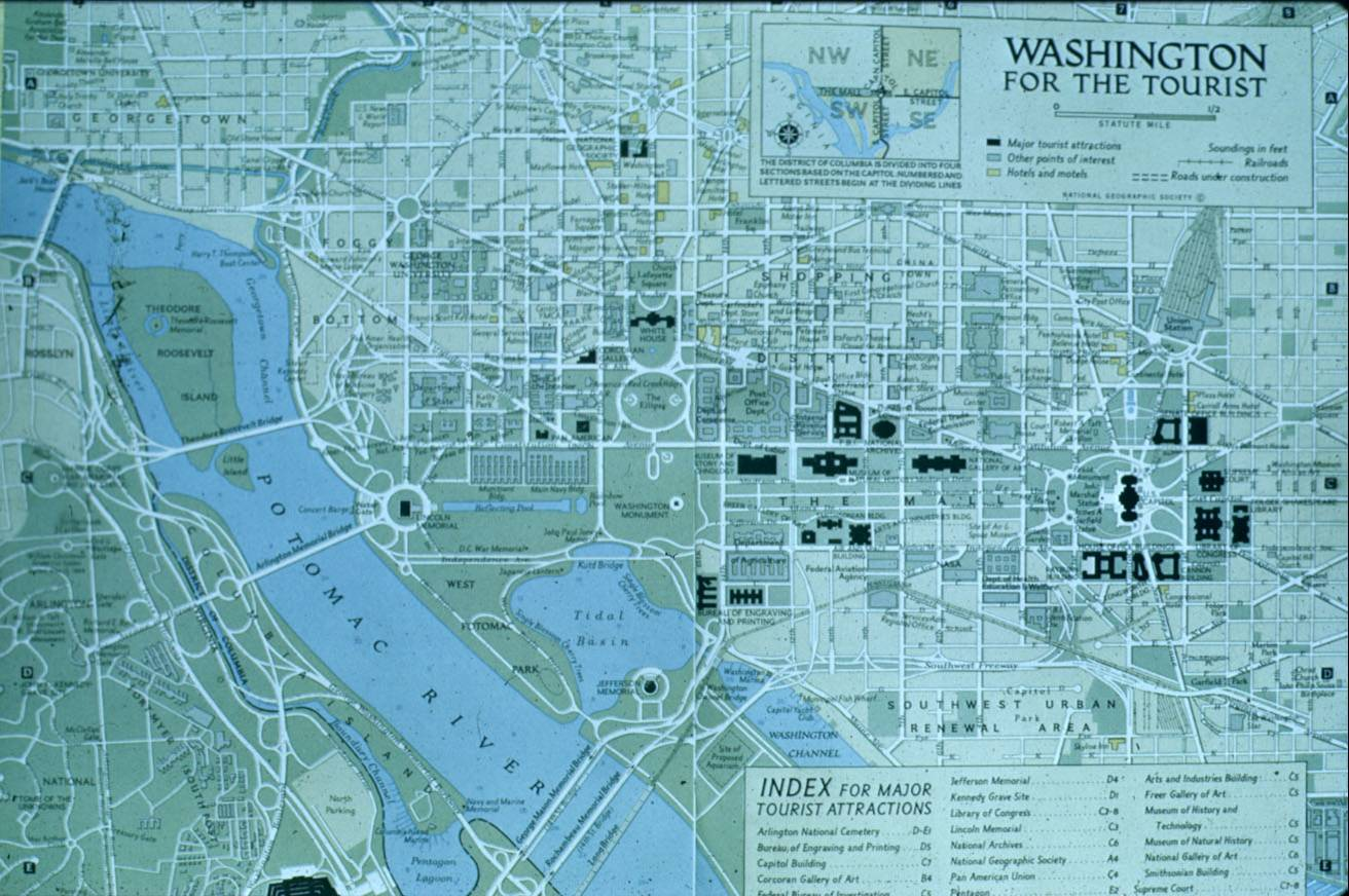 washington dc map of attractions Full