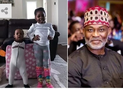 Nollywood Actor RMD shares adorable photo of his grandchildren