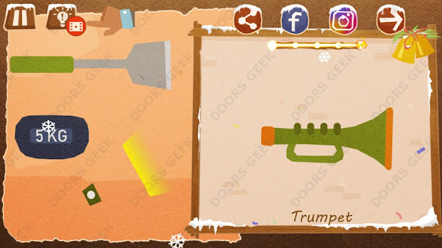Chigiri: Paper Puzzle Christmas Pack Level 11 (Trumpet) Solution, Walkthrough, Cheats