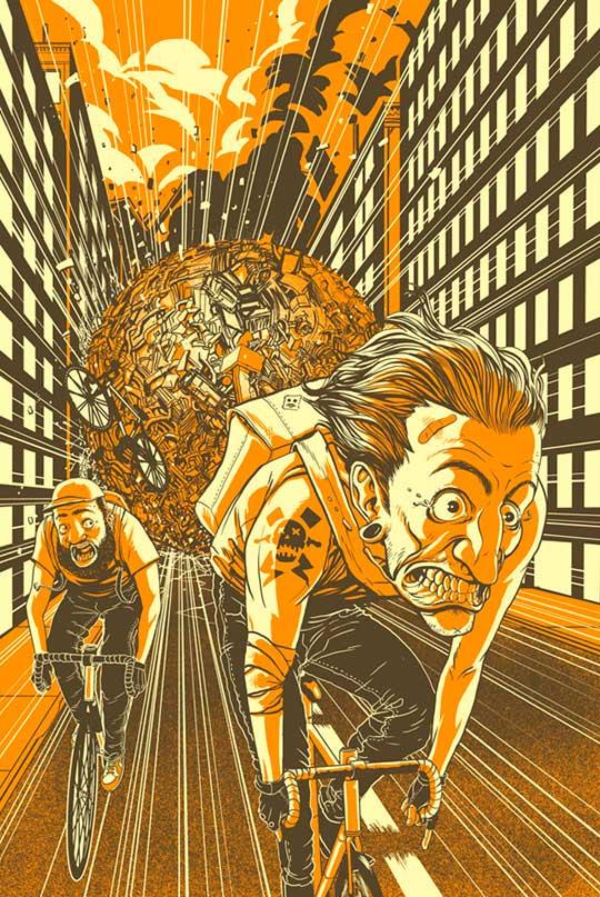 Bike Week Poster de Adam Rosenlund