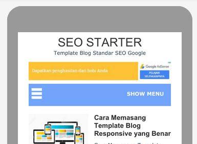 SEO Starter is Mobile Friendy Blogger Template