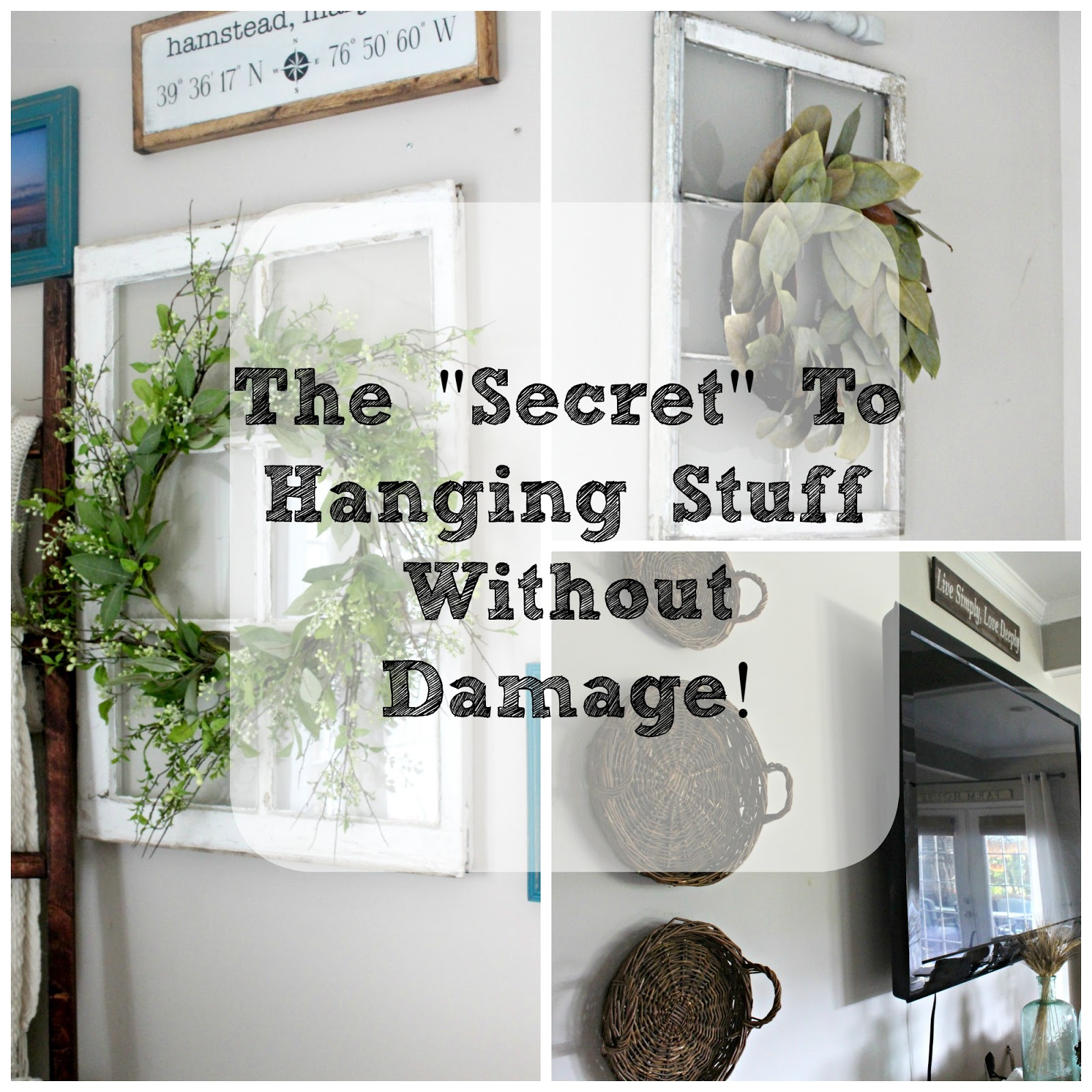 The Secret To Hanging Stuff Without Damage The Glam