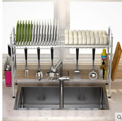 10 Desain Rak Piring Stenlees Untuk Dapur Terbaru