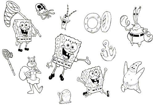 Baúl De Colorear Colorear Dibujos Personajes De Bob Esponja
