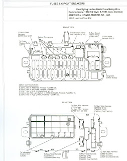 Free Auto Wiring Diagram: 1992 Honda Civic Fuse Box and