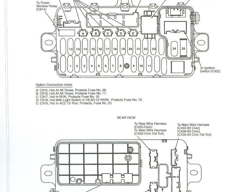 Free Auto Wiring Diagram: 1992 Honda Civic Fuse Box and