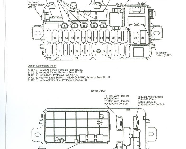1992 civic fuse box diagram