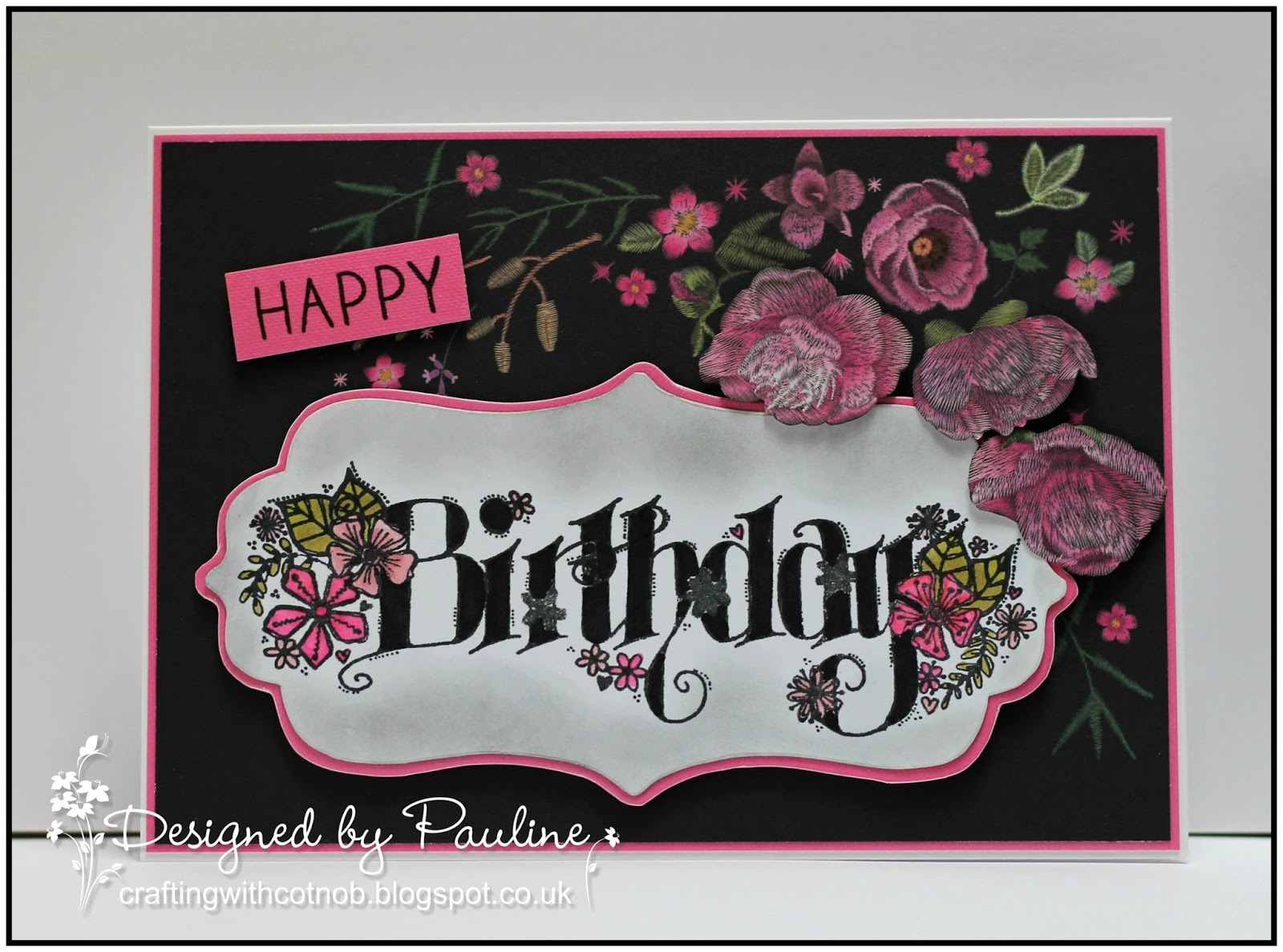 Crafting with Cotnob: Embroidered Birthday