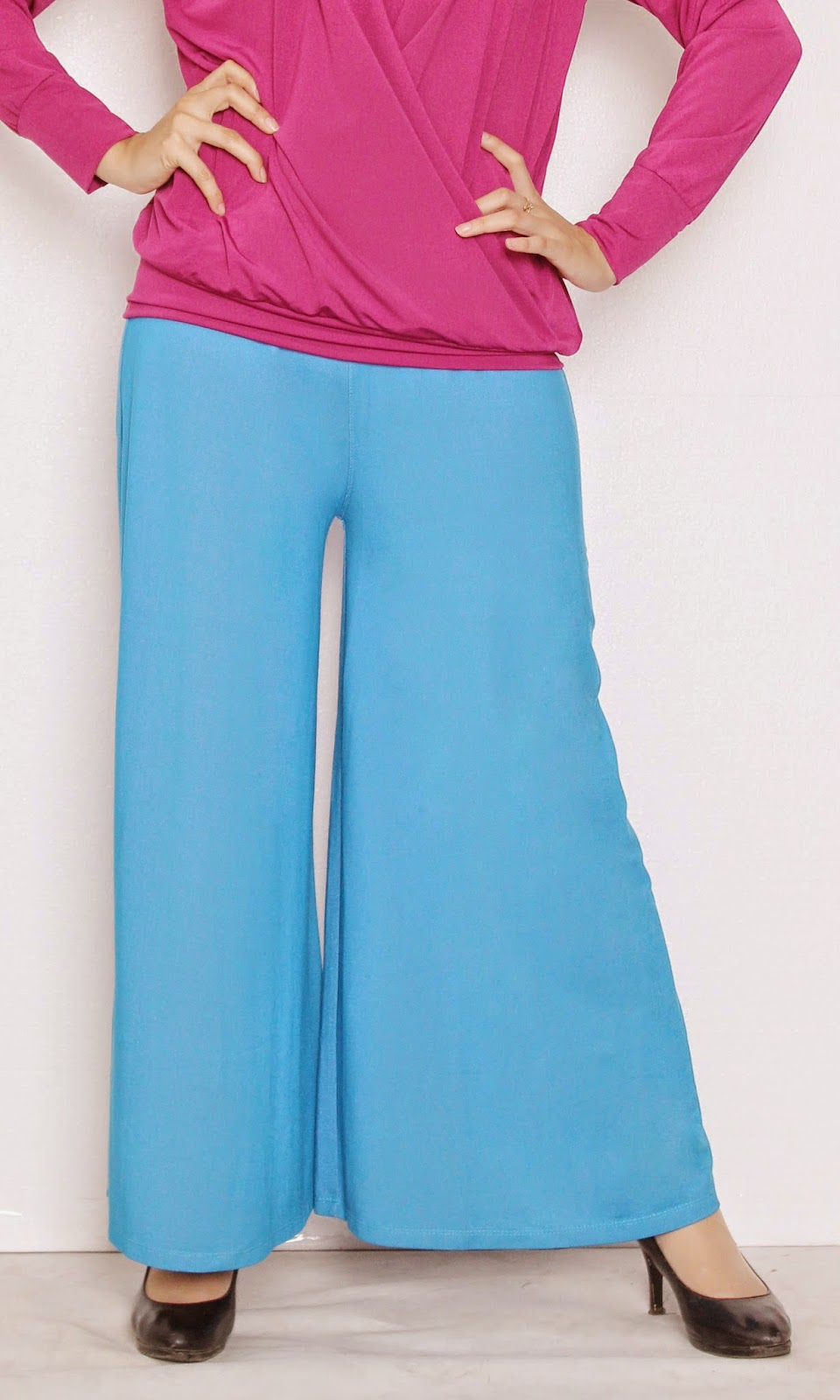 model celana kulot bahan spandek grosir