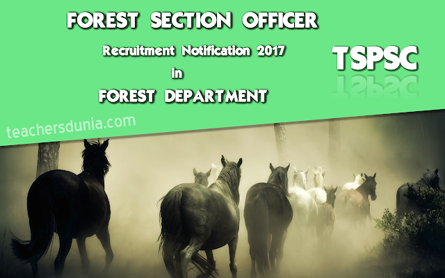 TSPSC-Forest-Section-Officer-In-Forest-Department-Notification-20171
