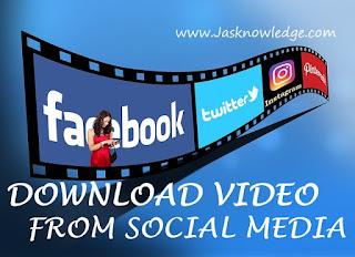 फेसबुक, इंस्टाग्राम,यूट्यूब से वीडियो डाउनलोड कैसे करे