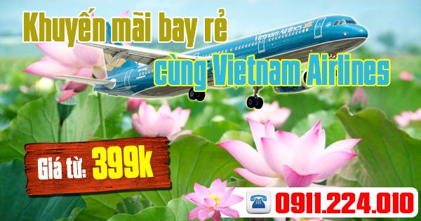 mua vé khuyến mãi bay rẻ Vietnam Airlines