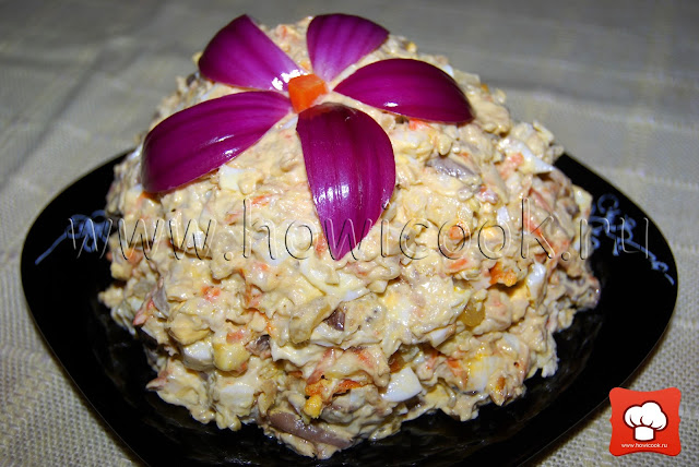 рецепт вкусного рыбного салата