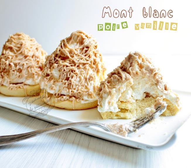 mont blanc poire vanille