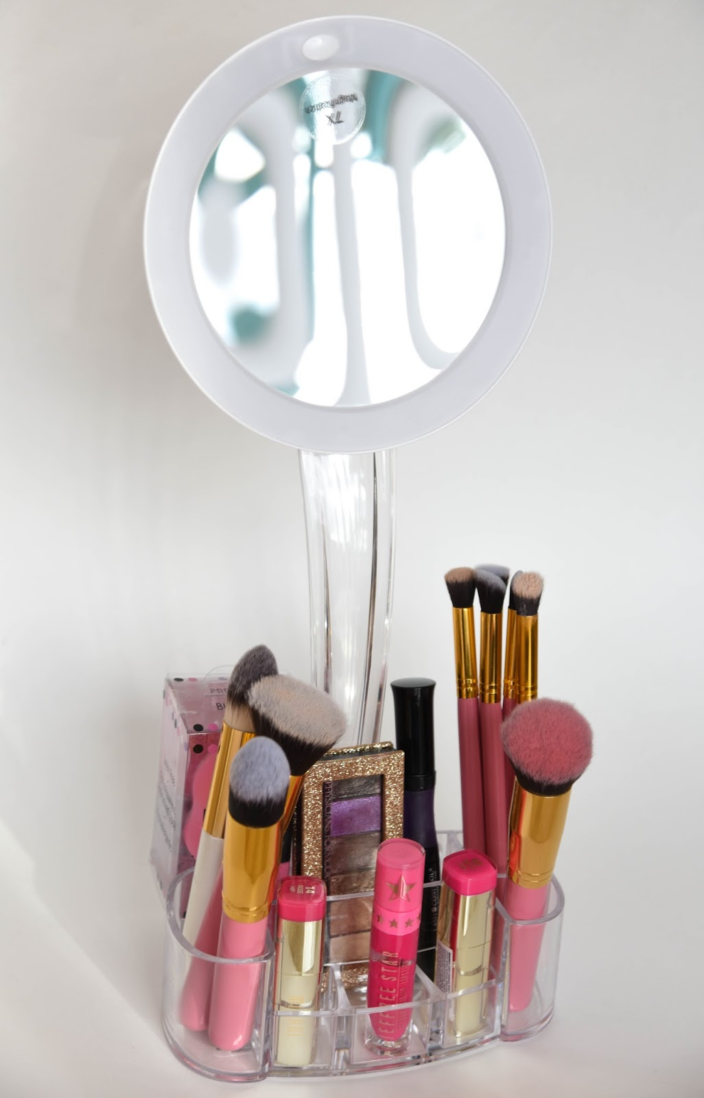 Onenac Makeup Mirror And Cosmetic Organizer